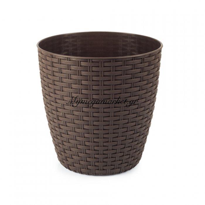 Κασπώ ραττάν καφέ πλαστικό | Mymegamarket.gr