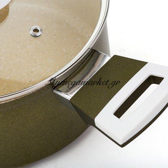 Αντικολλητική κατσαρόλα αλουμινίου με επίστρωση Granite 24cm - Nava Ideas Στην κατηγορία Κατσαρόλες | Mymegamarket.gr