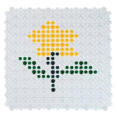 Πατάκι ντουζιέρας κολάζ αντιολισθητικό - Βεντούζα - Σχέδιο λουλούδι