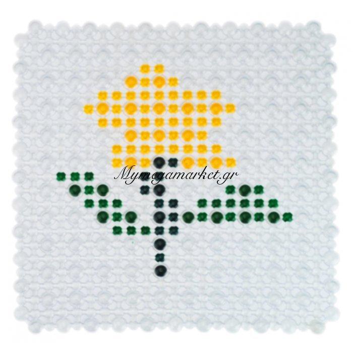 Πατάκι ντουζιέρας κολάζ αντιολισθητικό - Βεντούζα - Σχέδιο λουλούδι | Mymegamarket.gr