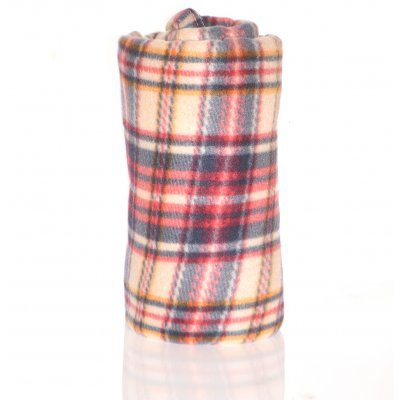 Κουβέρτα φλίς μονή 150 x 200 cm - Καρώ χρωματιστή