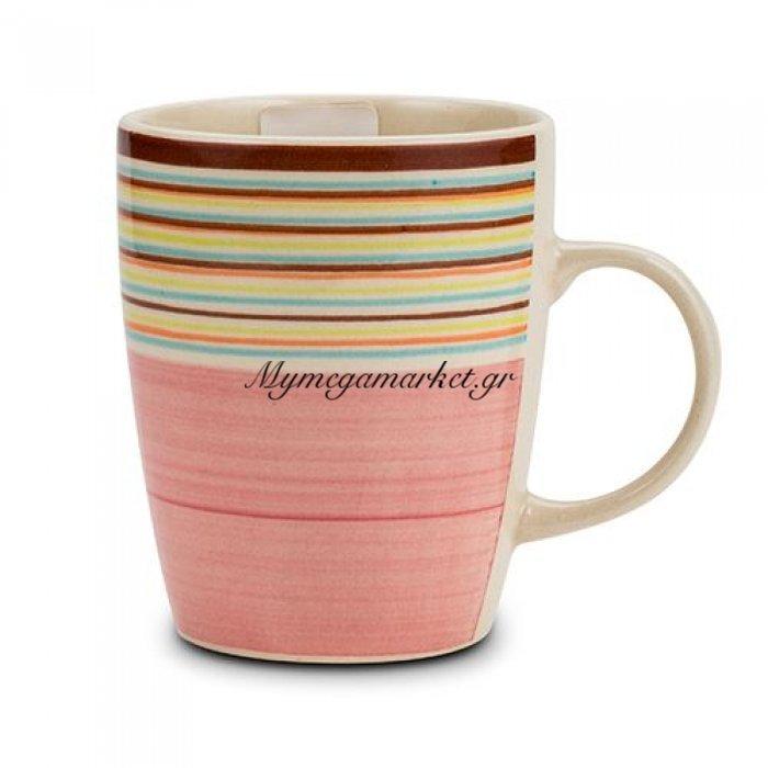 Κούπα stoneware ρόζ Nava 350 ml | Mymegamarket.gr