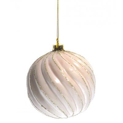Μπάλα χριστουγεννιάτικη σομόν με σχήμα