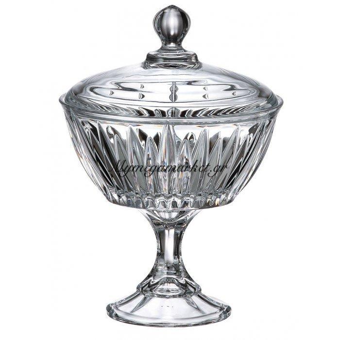 Κούπ κρυστάλλινο Bohemia με καπάκι 24cm New Nova - Venus | Mymegamarket.gr