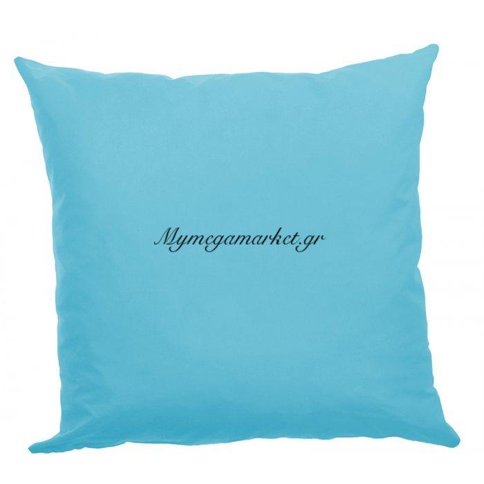 Μαξιλάρα δαπέδου γαλάζιο- Κρετόν ύφασμα 70 x 70 cm | Mymegamarket.gr