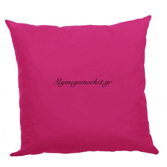 Μαξιλάρα δαπέδου φούξια- Κρετόν ύφασμα 70 x 70 cm | Mymegamarket.gr