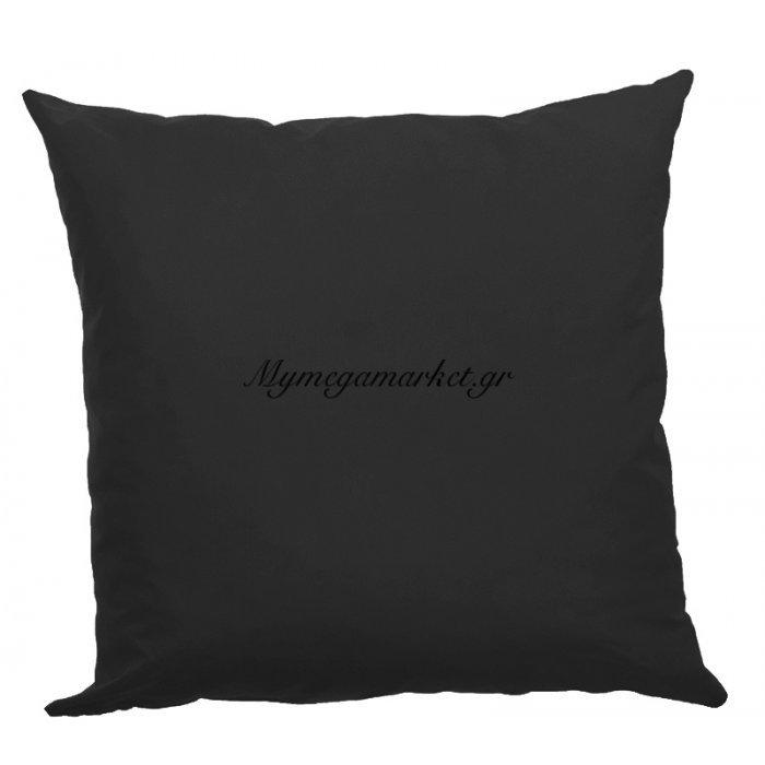 Μαξιλάρα δαπέδου μαύρη- Κρετόν ύφασμα 70 x 70 cm | Mymegamarket.gr