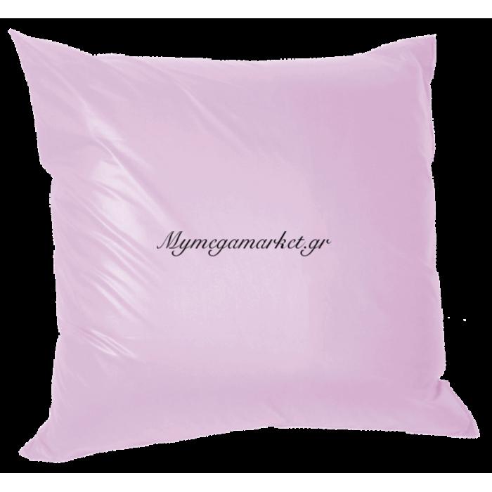 Μαξιλάρα δαπέδου πολυεστέρας τζίν σε λιλά απόχρωση 70 x 70 cm | Mymegamarket.gr