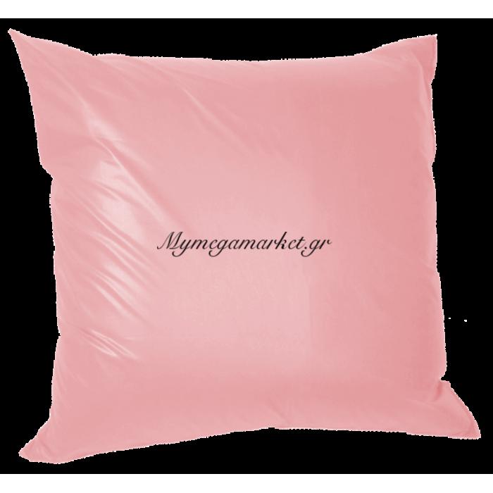 Μαξιλάρα δαπέδου πολυεστέρας τζίν σε ρόζ απόχρωση | Mymegamarket.gr