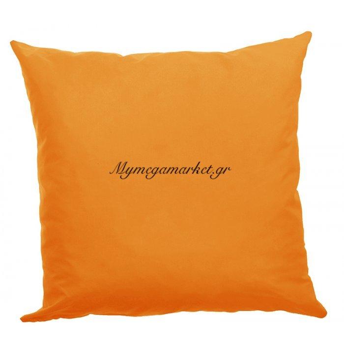 Μαξιλάρα δαπέδου πορτοκαλί - Κρετόν ύφασμα 70 x 70 cm | Mymegamarket.gr