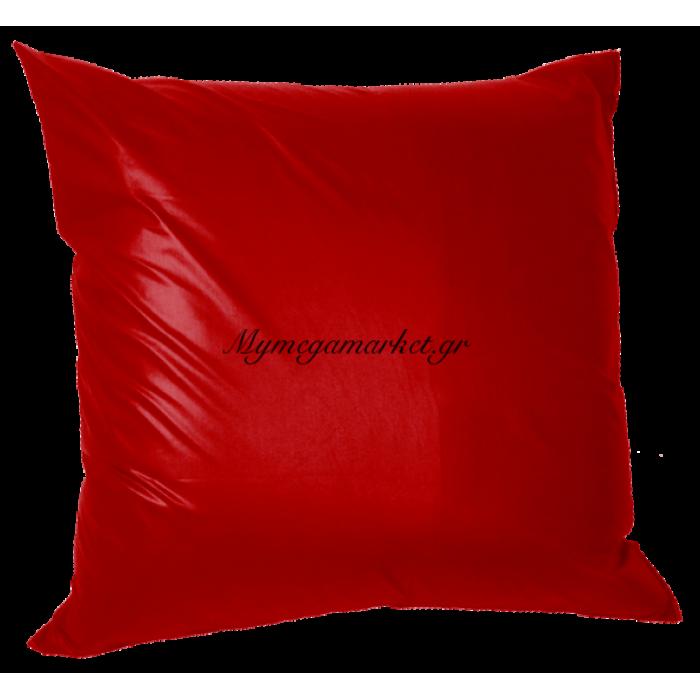 Μαξιλάρα δαπέδου κόκκινη - Τζίν ύφασμα 70 x 70 cm | Mymegamarket.gr
