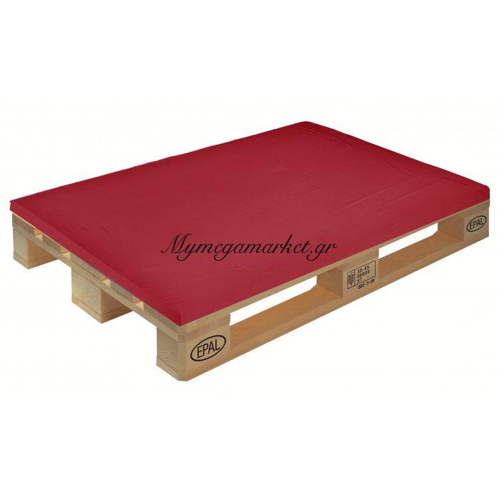 Μαξιλάρι μονόχρωμο κόκκινο για παλέτα και ευρωπαλέτα 5cm | Mymegamarket.gr
