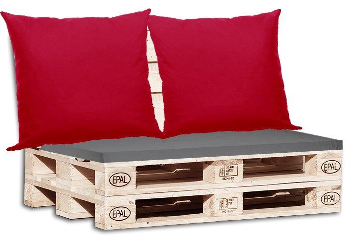 Μαξιλάρια για παλέτα γκρί + Μαξιλάρια καναπέ μονόχρωμα