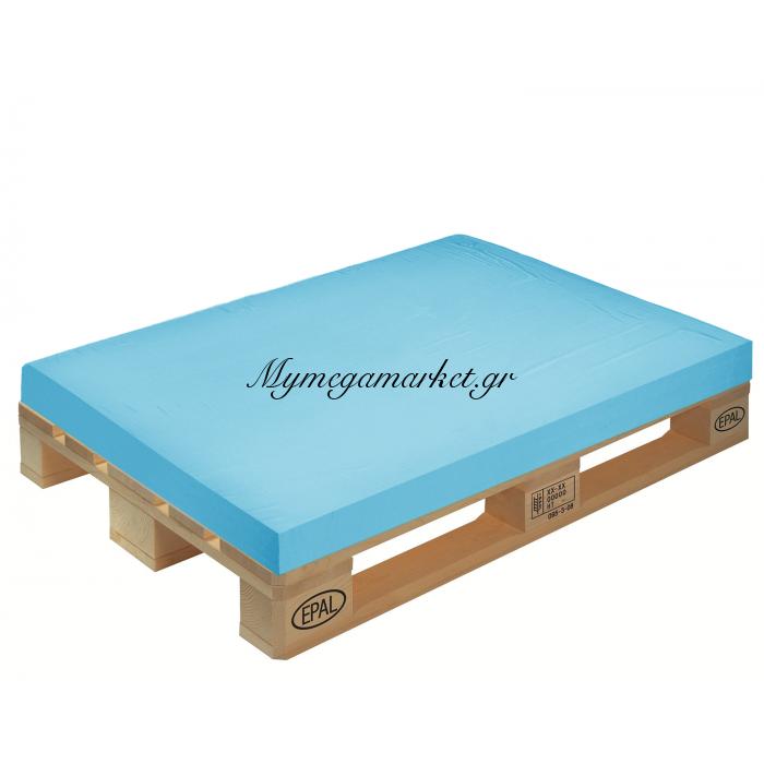 Μαξιλάρι μονόχρωμο γαλάζιο για παλέτα και ευρωπαλέτα 10cm | Mymegamarket.gr