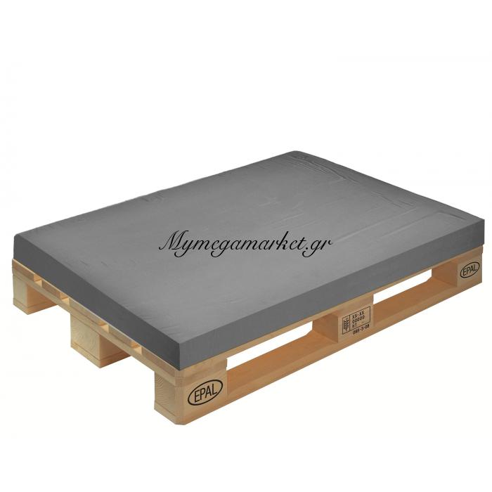 Μαξιλάρι μονόχρωμο γκρί για παλέτα και ευρωπαλέτα 10cm | Mymegamarket.gr