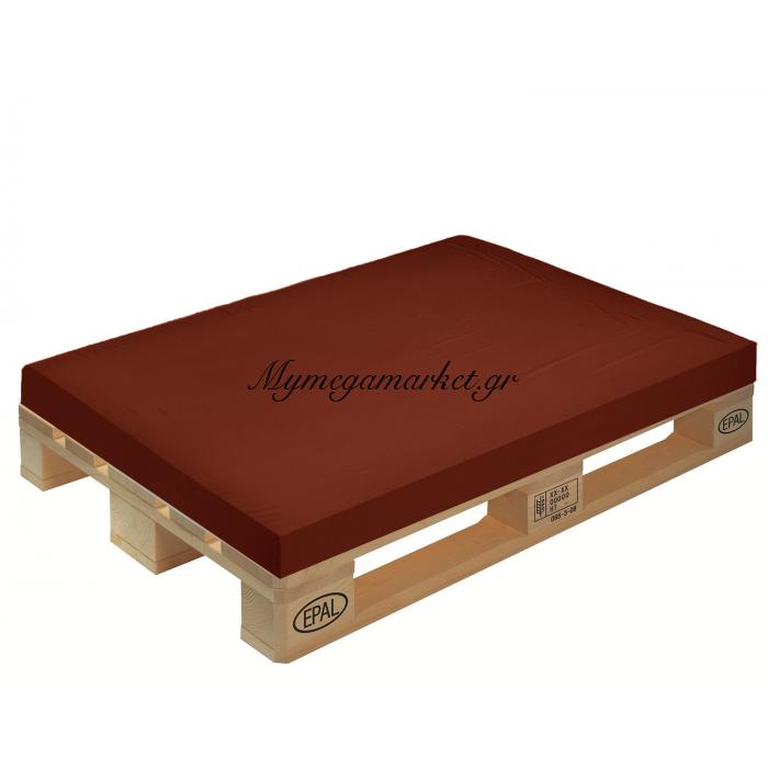 Μαξιλάρι μονόχρωμο καφέ για παλέτα και ευρωπαλέτα 10cm | Mymegamarket.gr
