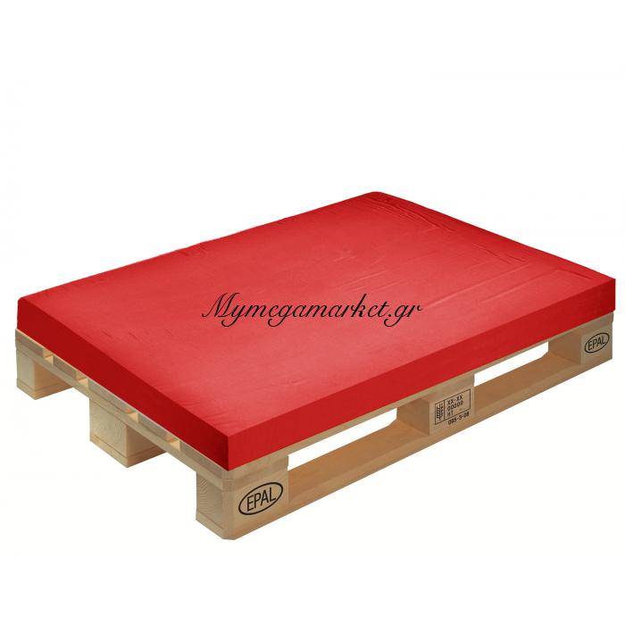 Μαξιλάρι μονόχρωμο κόκκινο για παλέτα και ευρωπαλέτα 10cm | Mymegamarket.gr