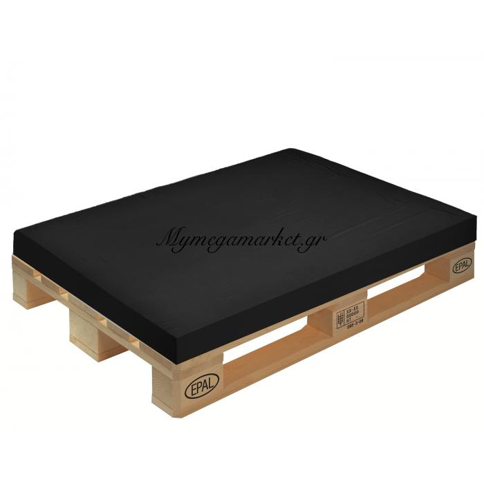 Μαξιλάρι μονόχρωμο μαύρο για παλέτα και ευρωπαλέτα 10cm | Mymegamarket.gr