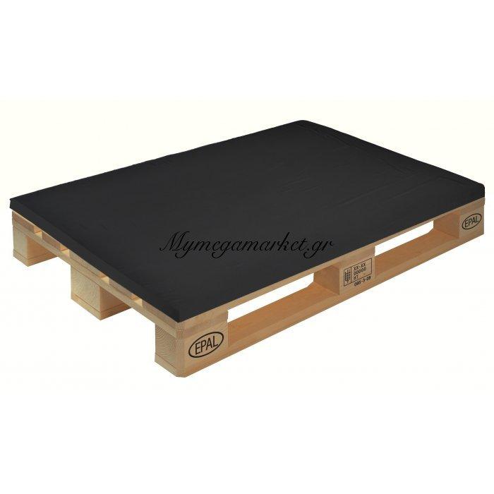 Μαξιλάρι μονόχρωμο μαύρο για παλέτα και ευρωπαλέτα 5cm | Mymegamarket.gr