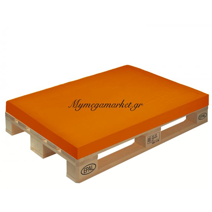 Μαξιλάρι μονόχρωμο πορτοκαλί για παλέτα και ευρωπαλέτα 10cm | Mymegamarket.gr