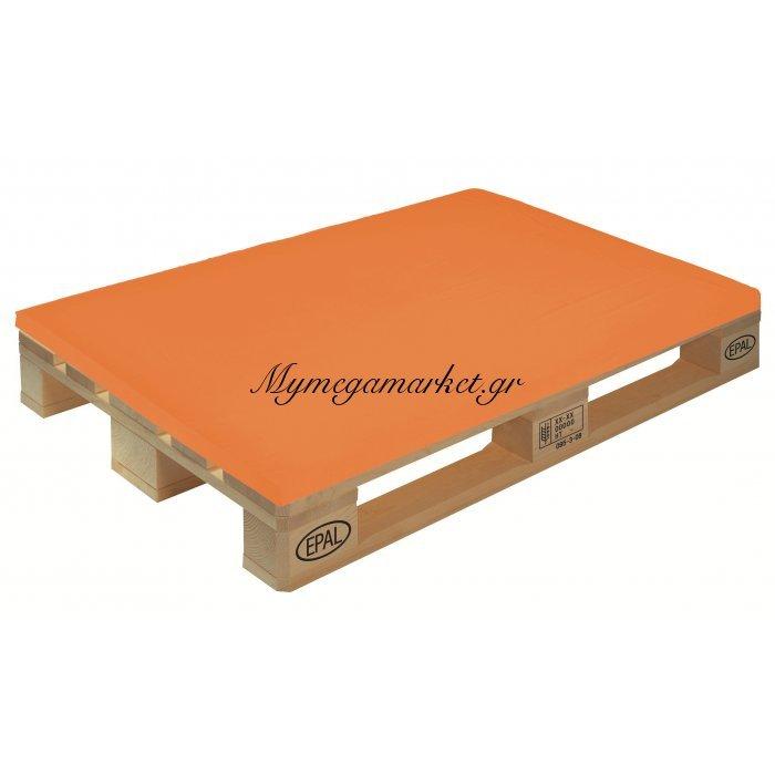 Μαξιλάρι μονόχρωμο πορτοκαλί για παλέτα και ευρωπαλέτα 5cm | Mymegamarket.gr