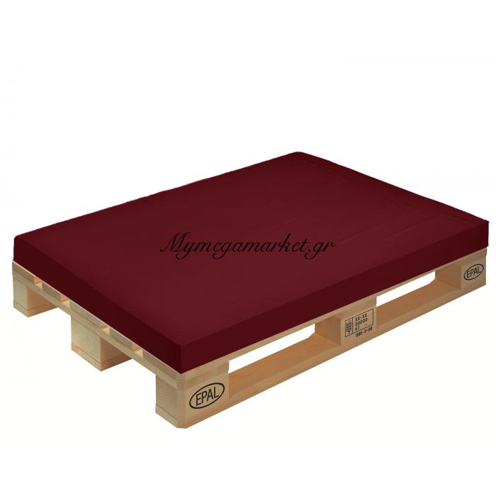 Μαξιλάρι μονόχρωμο βυσσινί για παλέτα και ευρωπαλέτα 10cm | Mymegamarket.gr