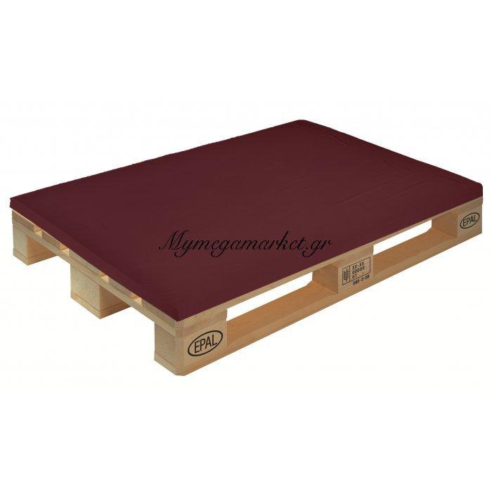 Μαξιλάρι μονόχρωμο βυσσινί για παλέτα και ευρωπαλέτα 5cm | Mymegamarket.gr