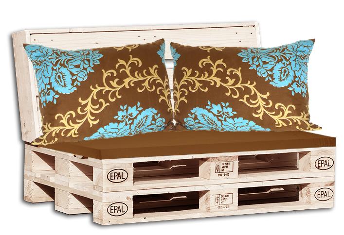 Μαξιλάρια για παλέτα γκρί + Μαξιλάρια καναπέ εμπριμέ
