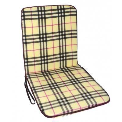 Μαξιλάρι καρέκλας με πλάτη καρώ μπέζ 100 x 45 cm