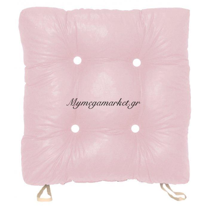 Μαξιλάρι κάθισμα μπαμπού απαλό ρόζ χρώμα 50 x 50 x 9,5 cm | Mymegamarket.gr