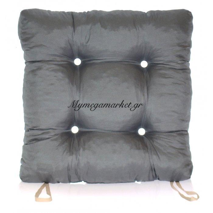 Μαξιλάρι κάθισμα μπαμπού - Κρετόν γκρί ύφασμα | Mymegamarket.gr