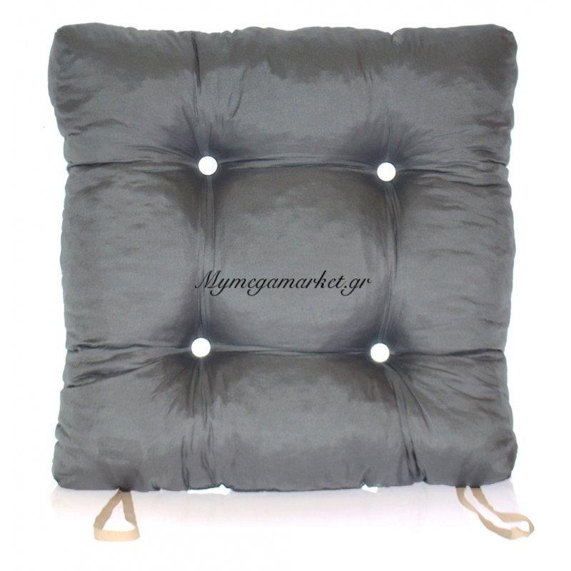 Μαξιλάρι κάθισμα μπαμπού - Κρετόν γκρί ύφασμα