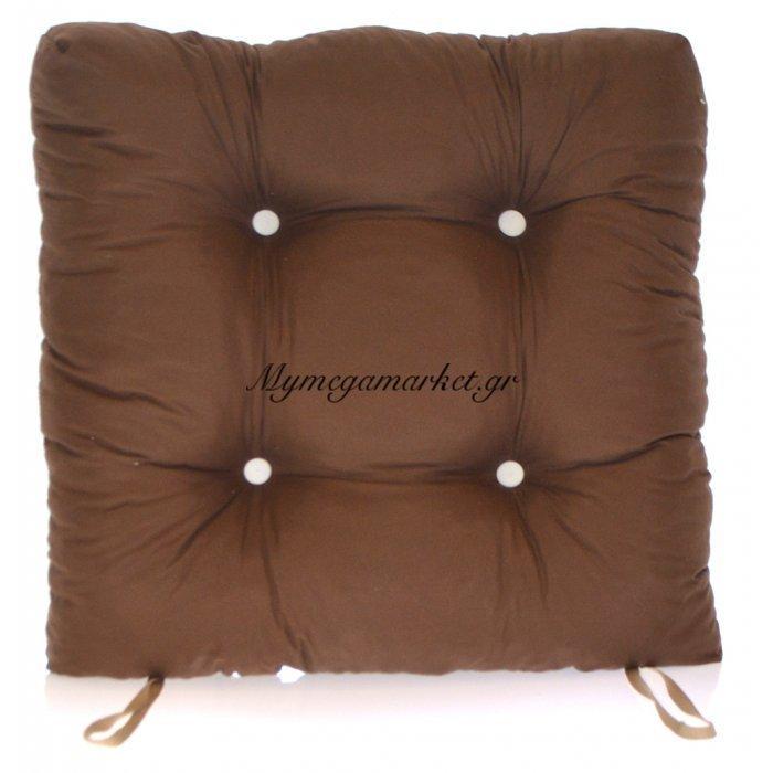 Μαξιλάρι κάθισμα μπαμπού - Κρετόν καφέ ύφασμα | Mymegamarket.gr