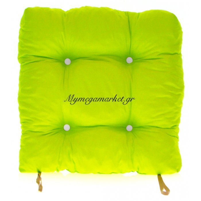 Μαξιλάρι κάθισμα μπαμπού - Κρετόν λαχανί ύφασμα | Mymegamarket.gr
