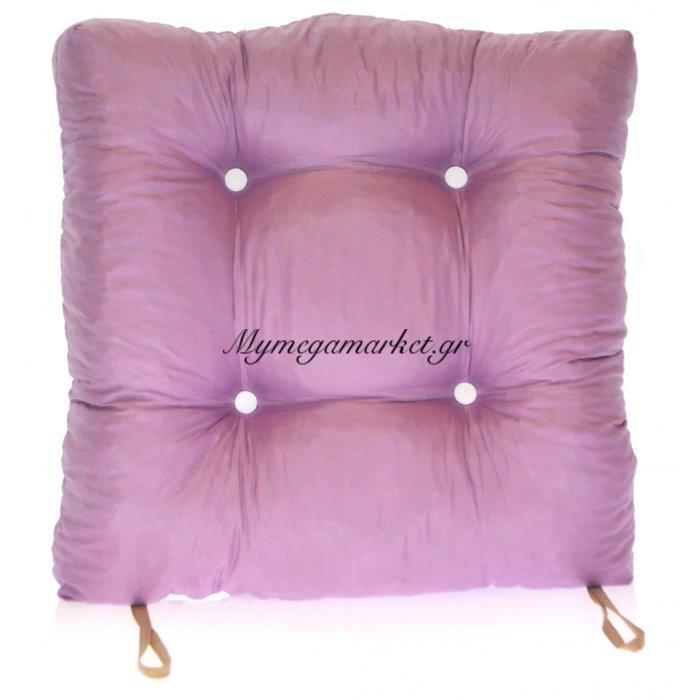 Μαξιλάρι κάθισμα μπαμπού - Κρετόν λιλά ύφασμα | Mymegamarket.gr