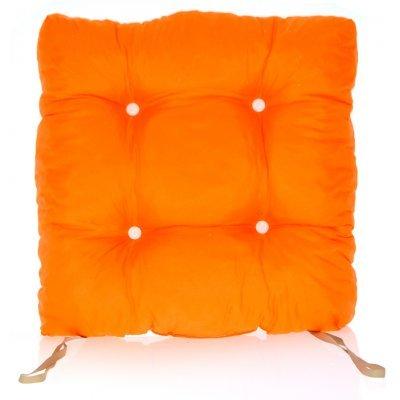 Μαξιλάρι κάθισμα μπαμπού - Κρετόν ποτοκαλί ύφασμα