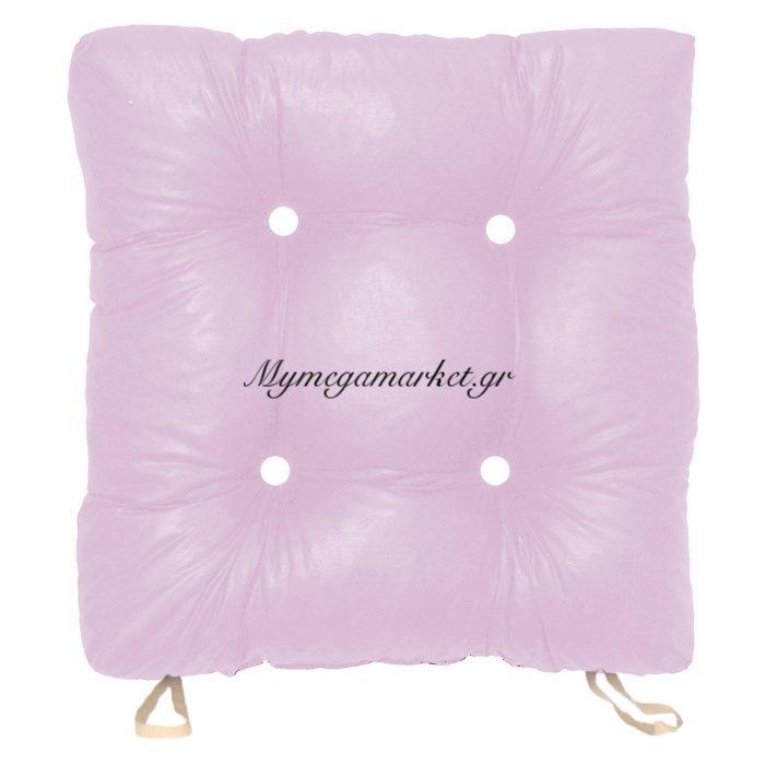 Μαξιλάρι κάθισμα μπαμπού, λιλά χρώμα 50 x 50 x 9,5 cm | Mymegamarket.gr