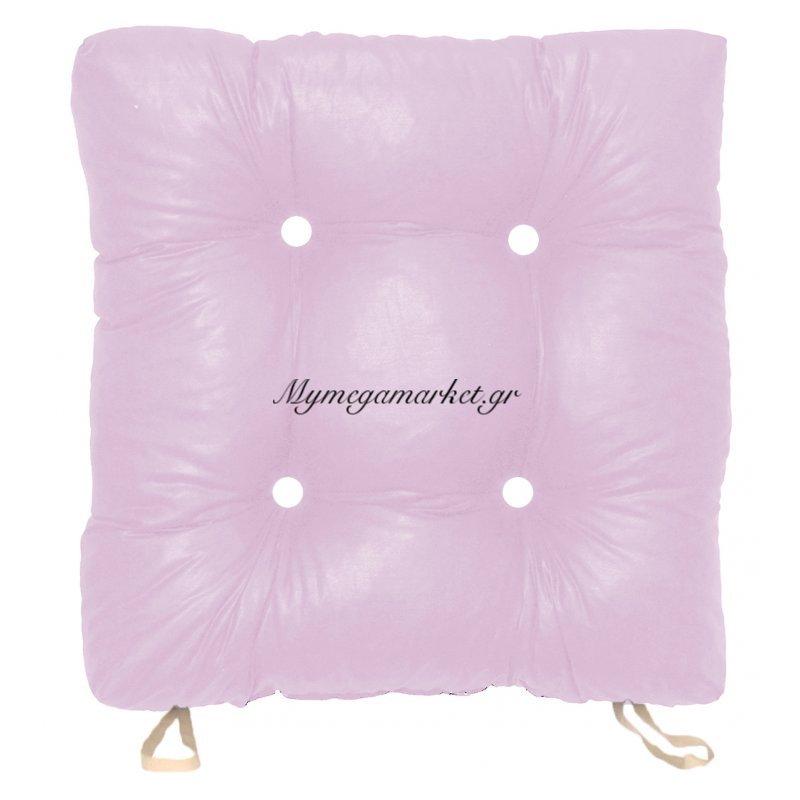 Μαξιλάρι κάθισμα μπαμπού, λιλά χρώμα 50 x 50 x 9,5 cm