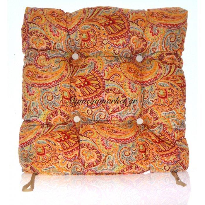 Μαξιλάρι κάθισμα μπαμπού - Λονέτα ύφασμα Design Ethnic | Mymegamarket.gr