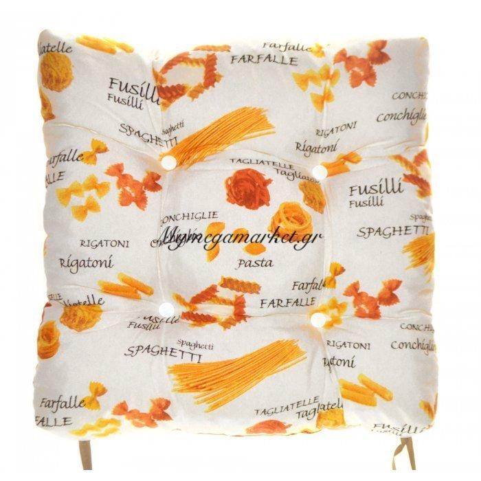 Μαξιλάρι κάθισμα μπαμπού - Λονέτα ύφασμα Design Spaghetti | Mymegamarket.gr