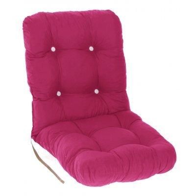 Μαξιλάρι κάθισμα με πλάτη μπαμπού - Κρετόν φούξια ύφασμα