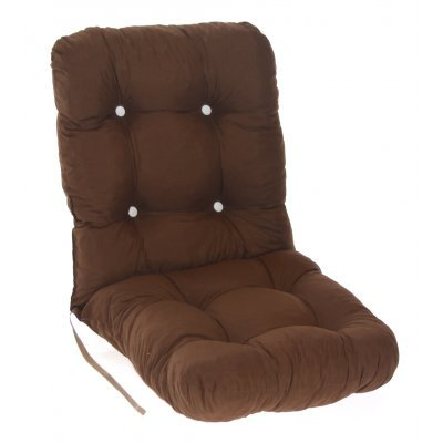 Μαξιλάρι κάθισμα με πλάτη μπαμπού - Κρετόν καφέ ύφασμα