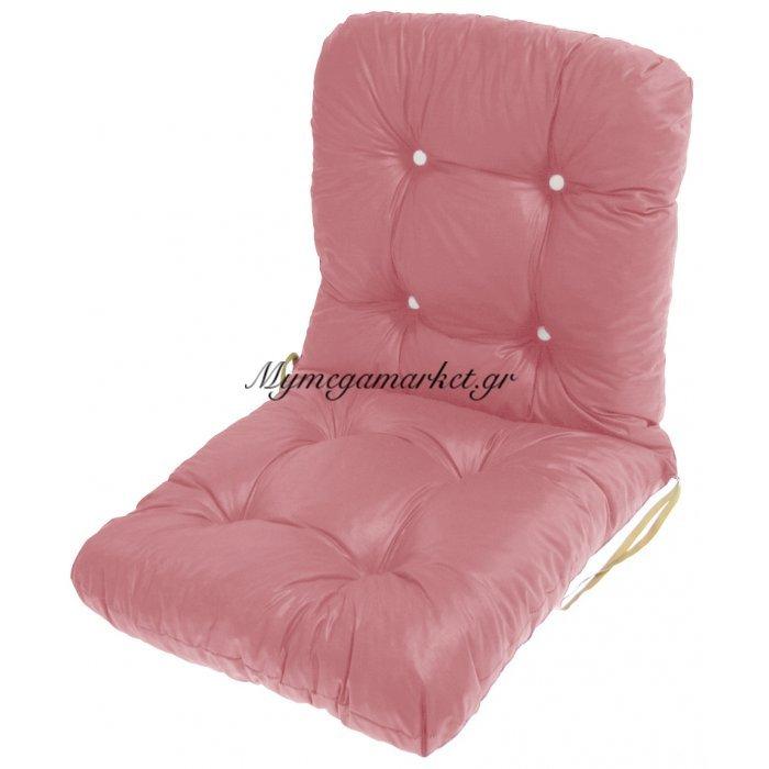 Μαξιλάρι κάθισμα με πλάτη μπαμπού σε απαλό ρόζ χρώμα | Mymegamarket.gr