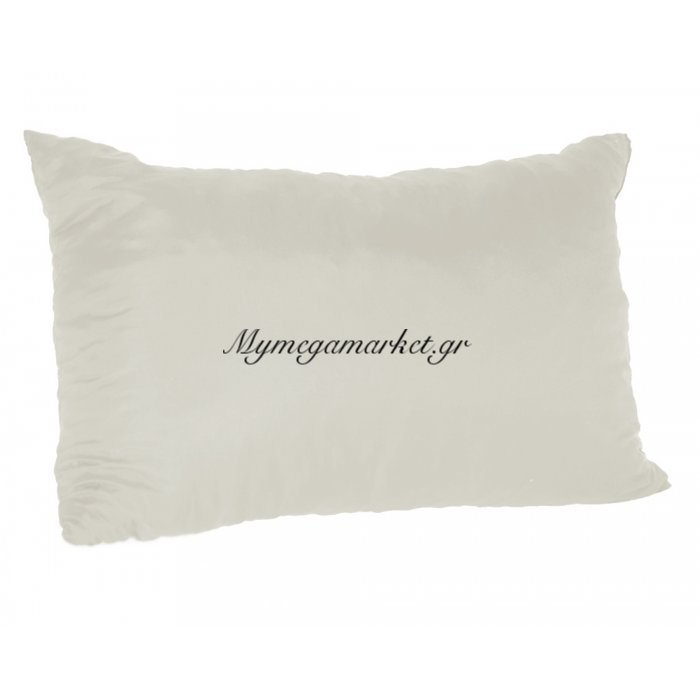 Μαξιλάρι καναπέ - Παγκάκι εκρού μονόχρωμο μακρόστενο 55 x 35 cm | Mymegamarket.gr