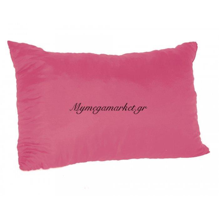 Μαξιλάρι καναπέ - Παγκάκι φούξια μονόχρωμο μακρόστενο 55 x 35 cm | Mymegamarket.gr