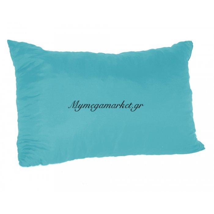 Μαξιλάρι καναπέ - Παγκάκι γαλάζιο μονόχρωμο μακρόστενο 55 x 35 cm | Mymegamarket.gr