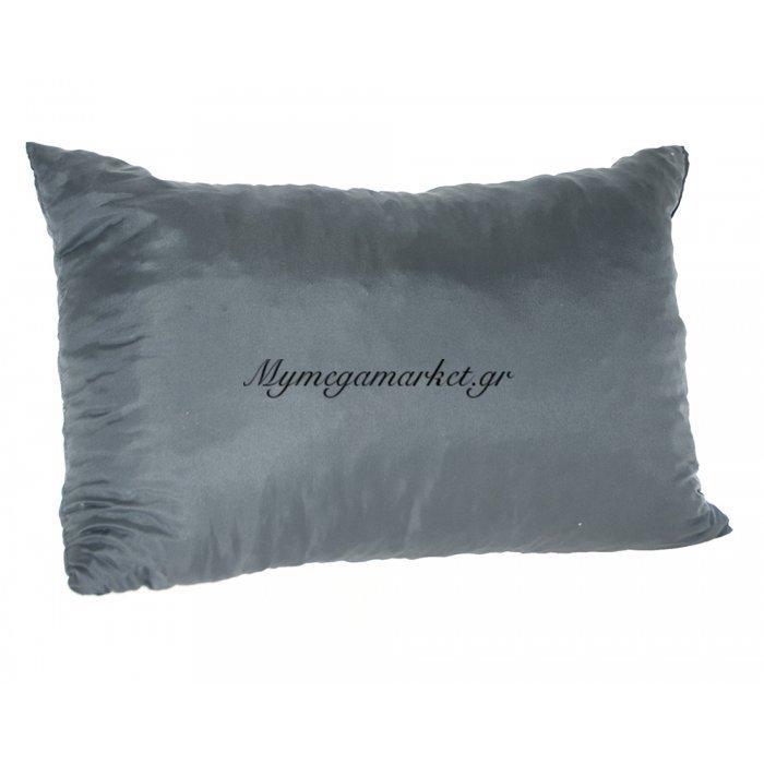Μαξιλάρι καναπέ - Παγκάκι γκρί μονόχρωμο μακρόστενο 55 x 35 cm | Mymegamarket.gr