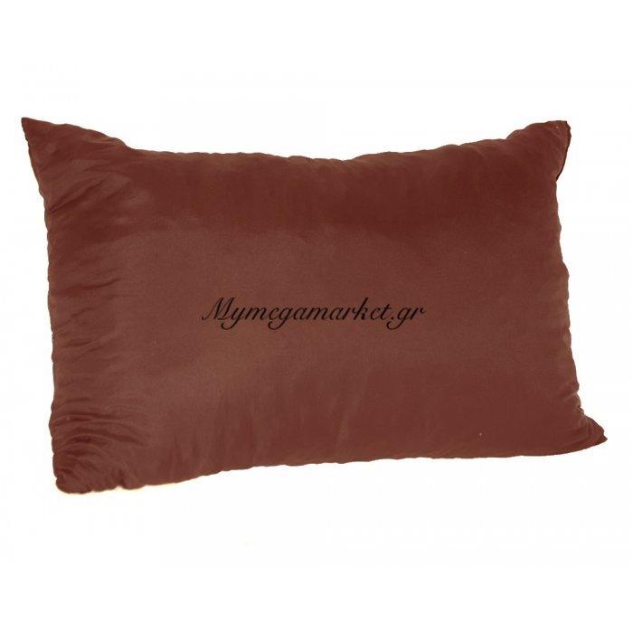 Μαξιλάρι καναπέ - Παγκάκι καφέ μονόχρωμο μακρόστενο 55 x 35 cm | Mymegamarket.gr