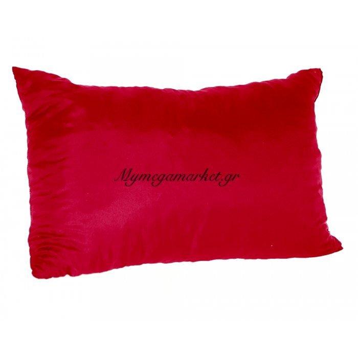 Μαξιλάρι καναπέ - Παγκάκι κόκκινο μονόχρωμο μακρόστενο 55 x 35 cm | Mymegamarket.gr