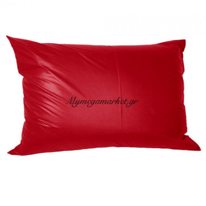 Μαξιλάρι καναπέ - Παγκάκι κόκκινο τζίν μονόχρωμο μακρόστενο 55 x 35 cm | Mymegamarket.gr